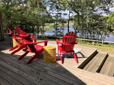 Photo for Bright Cottage in Hyannisport. Enjoy a private yard and water view.