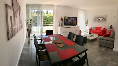 Photo for Apartment T3 -74 m2 - Ground floor -2 bedrooms -Residence Arcachon Marine.