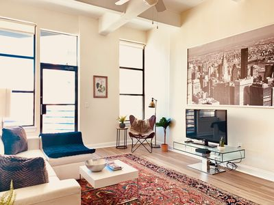 Photo for Amazing Spacious Modern Loft 3 BR/2BA Mins to NYC (Sleeps 7!)