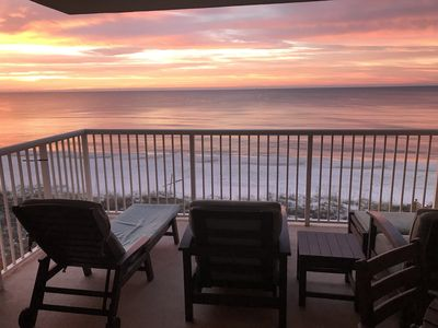 Private balcony overlooking the Gulf of Mexico