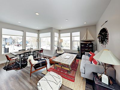 Photo for Contemporary 3BR Townhome w/ Mountain Vistas, 5-Min Walk to Downtown & Trails