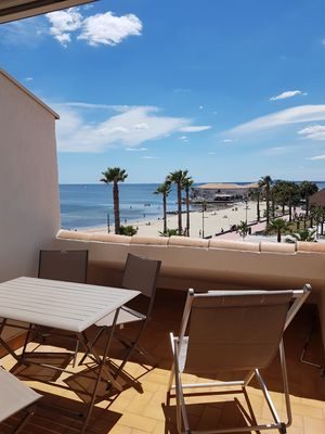 Photo for T2 apartment with magnificent beach view in Mèze, near Sète and Cap d'Agde