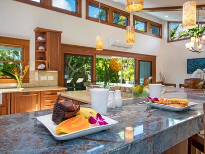 Photo for Tropical Home w/Pool, Yard, Outdoor Lanai for Entertaining, & A/C. Hale Niuiki