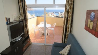 Photo for Penthouse two bedrooms with sea views- Cristianos 6