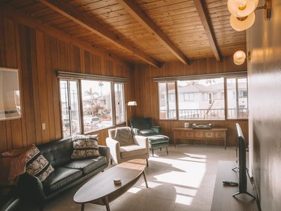 Photo for Block from the Beach! Free Parking! Mid Century Modern Beach House