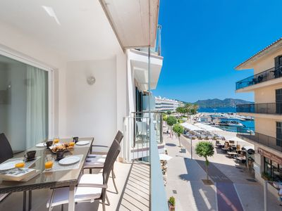 Photo for MOLL 3 - Apartment with sea views in Cala Bona.