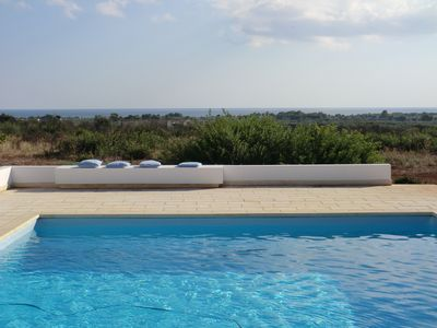 Photo for modern villa with pool and large garden, a few minutes from the beach,