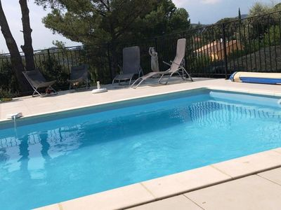 Photo for BORMES MIMOSAS VILLA 8 PERS. CLIMATISEE WITH SWIMMING POOL