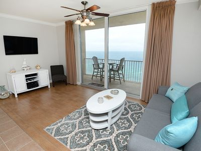 Photo for Stunning coastal condo! Incredible gulf-front views! Free DVD rentals! Starbucks on-site!