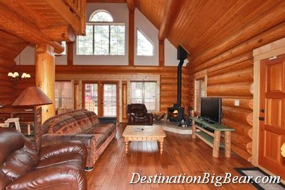Great Room / Living Room -- Wood Stove, Comfy Couches, Flat Screen TV, and WiFi
