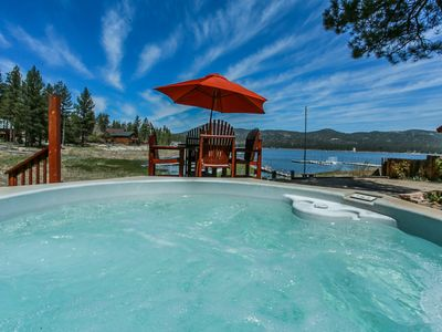 Photo for LAKEFRONT & Boat DOCK, private HOT TUB  Lake views!