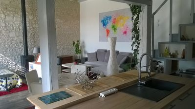 Photo for LOFT IN TOURAINE independent of 70 m ² for 4 people in closed court, seen forê