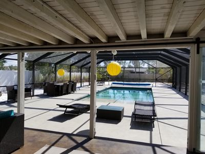 Photo for Private, Modern 3 Bedroom 3 Bath Home, Large Salt Water Pool