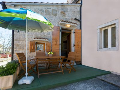 Photo for Vacation in a unique Istrian stone house with sea view