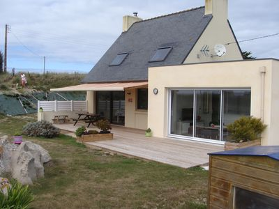 Photo for Holiday home facing the sea Kerlouan Nord Finistère 8 people 4 sleeps