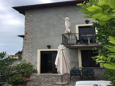 Photo for Cosy apartment for 4 guests with TV, terrace, panoramic view and parking, close to Riva Del Garda