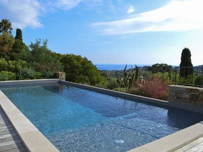 Photo for GULF OF ST TROPEZ - RENOVATED VILLA - SEA VIEW - HEATED POOL - SOUTH COAST
