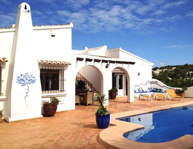 Photo for Ideal holiday villa with private pool, seaviews & much privacy