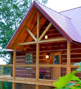 Photo for Monteagle Cabin. Luxurious, cozy log home with breathtaking bluff views!Hot tub!