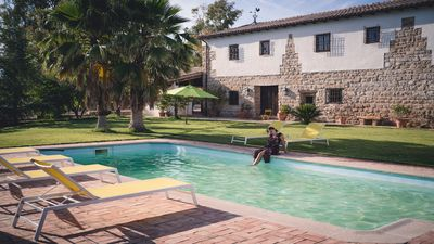 Photo for Typical Andalusian farmhouse surrounded by olive and fruit trees
