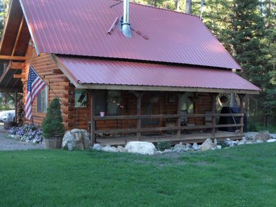 Photo for Rustic Log Cabin On 20 Acres Private and peaceful, only 20 min from town