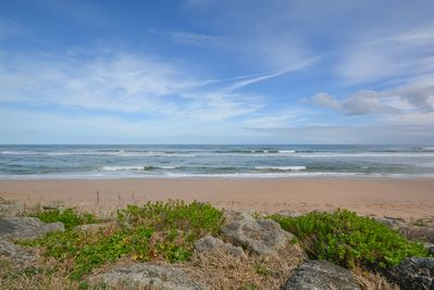 Direct oceanfront 3 bedroom 2 bath ground floor, corner unit with private patio.  Walk right out to the ocean!