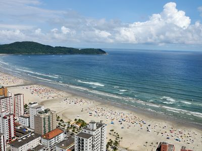 Photo for Suitable for 06 people - Praia Grande - Aviation - One block from the beach.