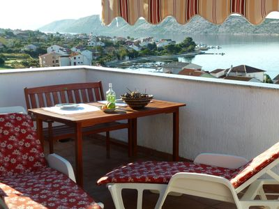 Photo for Red Jadro **** apartment, 250 from the sea, with 32m2 terrace