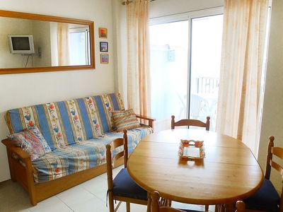 "Photo for Apartment a short walk away (166 m) from the ""Platja del Salatar"" in Roses with Lift, Parking, Washing machine, Terrace (88219)"