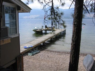Cabin is located right on the beach, just steps to the beach