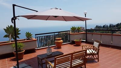 Photo for ELISA'S HOUSE  with a big terrace is combined with sea and mountain view