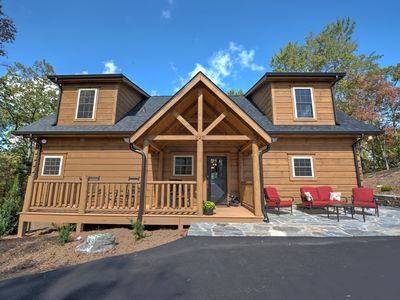 Photo for Luxurious Log Lodge in Black Mountain Awaits you... Stay in Style!