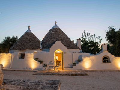 Photo for Trullo with swimming pool. Rest and silence among the olive trees