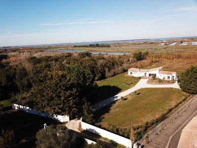 Photo for House on large land between beach & salt marshes