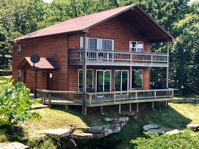 Spectacular Lake View, Luxury Cabin provides the perfect gathering place.
