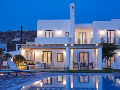 Photo for Luxury 5 Bedrooms 6 Bathrooms Up to 12 Guests, Villa Bellezza Sea Side with Private Pool, NAXOS ISLAND !