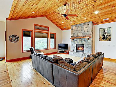 Photo for New Listing! Stunning Mountain Outpost w/ Big Views & Lush 150-Acre Lot