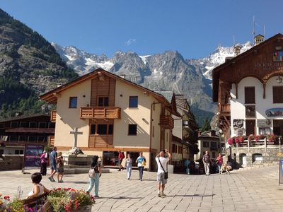 Photo for Characteristic apartment on the central square of the Church of Courmayeur