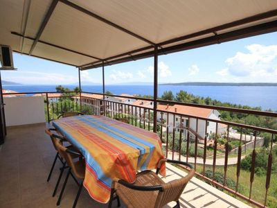 Photo for Two bedroom apartment with terrace and sea view Zavala (Hvar)
