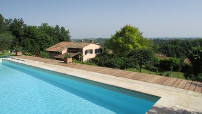 Photo for Country house in Monferrato with pool and large garden for 8 people