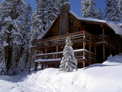 Photo for A stately furnished log cabin perfect for snow skiing!