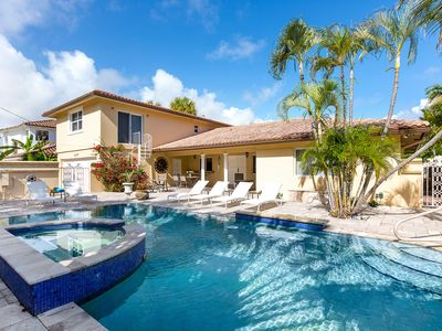 Photo for Waterfront Home with 5 Bedrooms - Private Pool area - close to the Beach