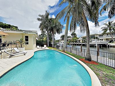 Photo for New Listing! Seven Isles Haven w/ Private 75' Dock & Pool - Walk to Beach