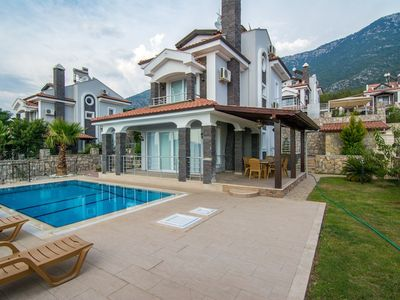 Photo for 3 Bedroom Villa with private pool  and garden, 5 minutes  drive to ÖlüdenizBeach