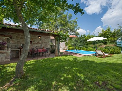 Photo for Romantic house with pool in quiet village, 15 minutes drive to the sea