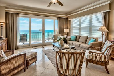 Adagio A305 corner condo - Enjoy the light and spaciousness of the third floor condo on the gulf overlooking the sugar white sands of 30A.