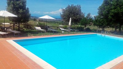 Photo for Entire Villa Tilli B & B with a panoramic swimming pool immersed in the Chianti vineyards