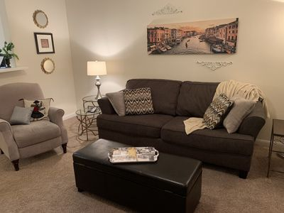 living room sofa and reclining chair
