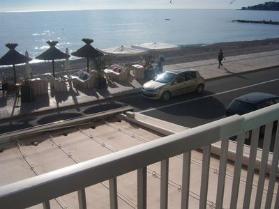 Photo for MENTON 2 ROOM APARTMENT FACING SEA - NEAR SHOPS AND AMENITIES