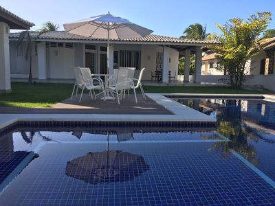 Photo for 6 Suites, Pool, Hydro, Gourmet, 100m from the Interlagos Beach